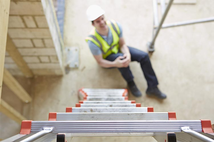 Man fell off a ladder needs workers compensation